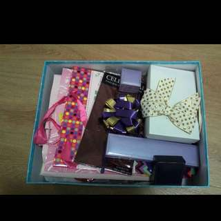Large Box Of Gift Wrapping Goods