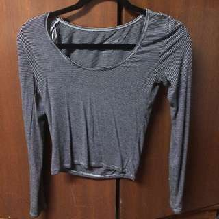 American Eagle Soft Stripped Top
