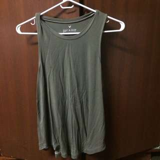 American Eagle Olive Soft Tank Top