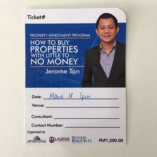 Seminar On How To Buy Properties With Little To No Money Down