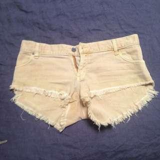 Rusty Mustard Denim Shorts