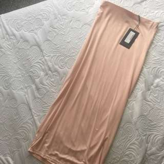 Brand New Blush Midi Skirt