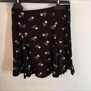 black floral skirt from topshop