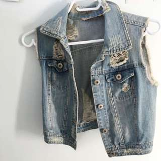 Jean vest ripped