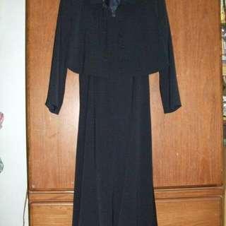 氣質高雅深藍色小禮服(附外套)
