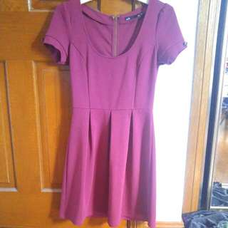 Dotti Skater Maroon Dress Size 6