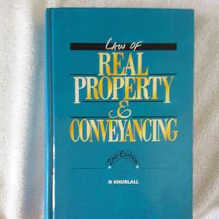 Law Of Real Property And Conveyancing