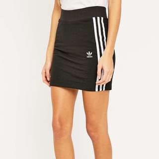 Adidas three stripe black mini skirt