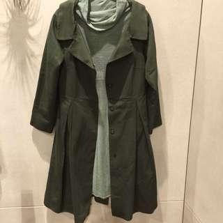 西班牙製ZARA。綠色大衣