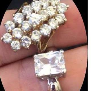 glam it up from the 70s....please choose 1... 925 Cluster Is Sold Rockhampton, Queensland estate ring lot marked 926 5.25 and 6.25