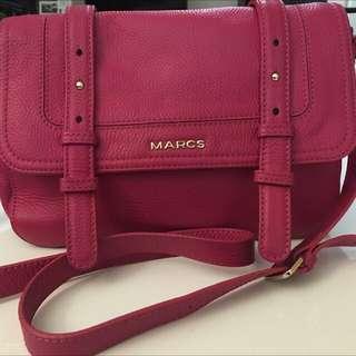 Marcs Leather Messenger Satchel