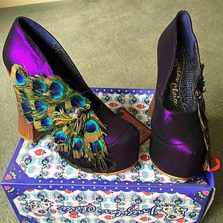 Irregular Choice - Purple Peacock, size 7.5 / Runs Small - best fits size 6.5