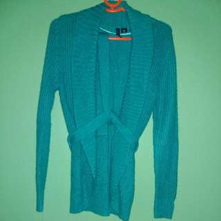 H&M Cardigan Blue Green