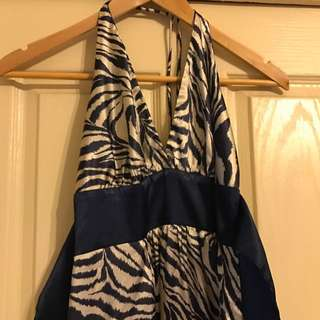 Silk Holter Neck Dress Size 10