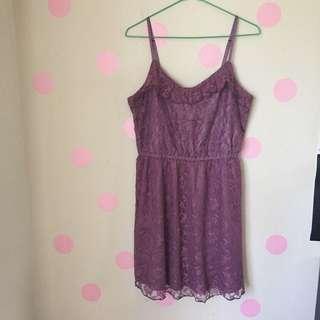 H&M Purple Lace Dress