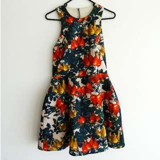 Cameo the Label - Size S - BNWT Dress - Exclusive Chili Print Cut Out Low Back