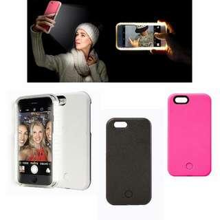 iPhone6`7`plus LED補光自拍手機殼 清貨