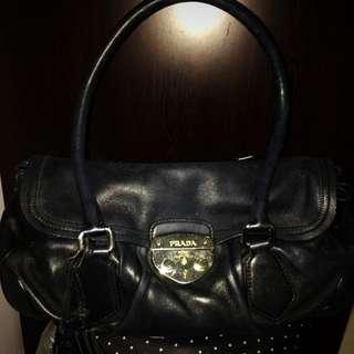 Prada Lambskin Shoulder Bag
