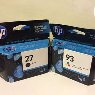 Hp27 And Hp93 Ink Cartridge For Clearance