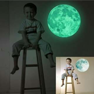 (PRE-ORDER) 30cm Luminous glowing moon and star in the dark (1 pcs)!!