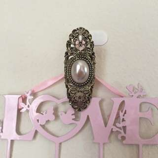 Diva Filagree And Pearl Statement Ring