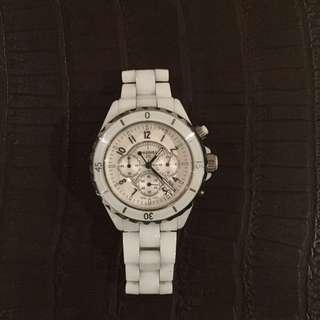 Chanel White J12 Watch
