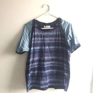 BERSERK Italian mercerised cotton stripes tshirt