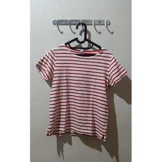 Uniqlo Red Striped Tee
