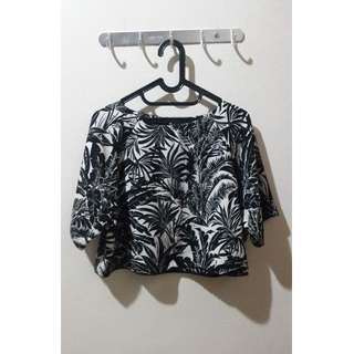 Topshop Boutique Hawaiian Island Crop Top