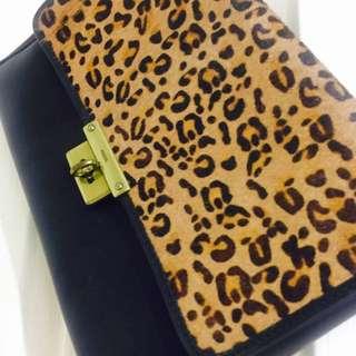 Fossil Leopards Leather Handbag