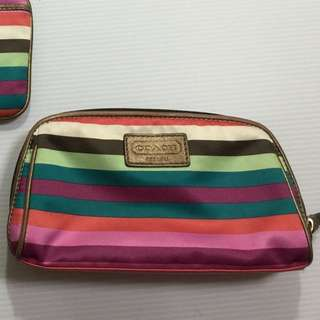 ❤️ Authentic Coach Multicolour Make Up Pouch