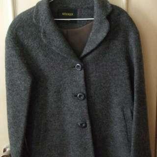 設計師 專櫃 SHYANGAN-HLW 灰色羊毛外套