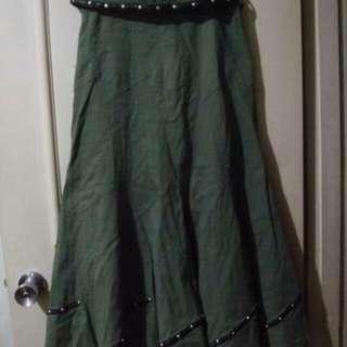 帥氣軍綠套裝【2way裙子 皮帶 外套】