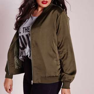 📌 LOOKING 📌 PLUS SIZE GREEN ARMY BOMBER JACKET