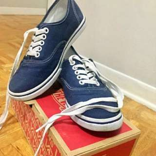 Navy Blue Vans - Authentic  Lo Pro -
