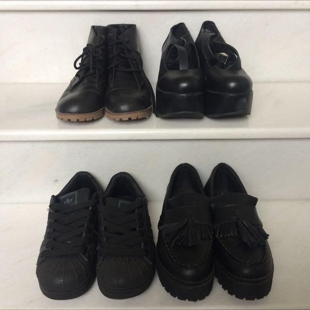 黑色の鞋鞋