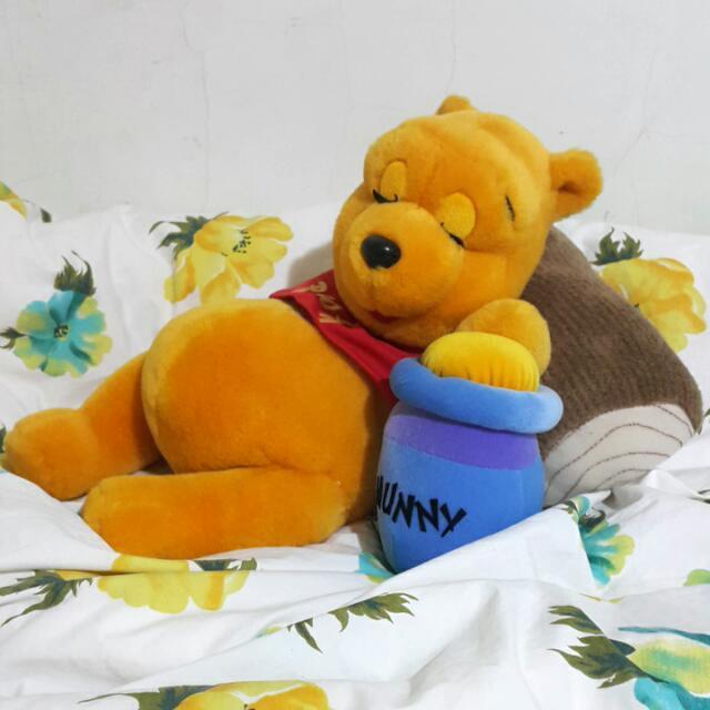 維尼熊睡覺娃娃