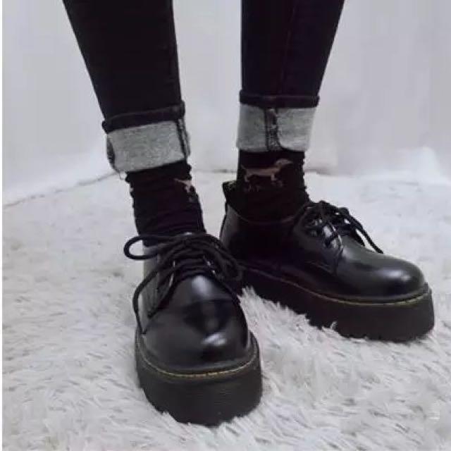 復古英倫厚底鞋