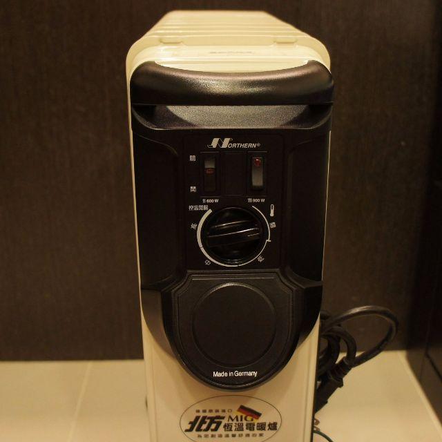 二手葉片式電暖器 北方-9葉片式恆溫電暖爐(NP-09) 門市更衣室專用,極新少用