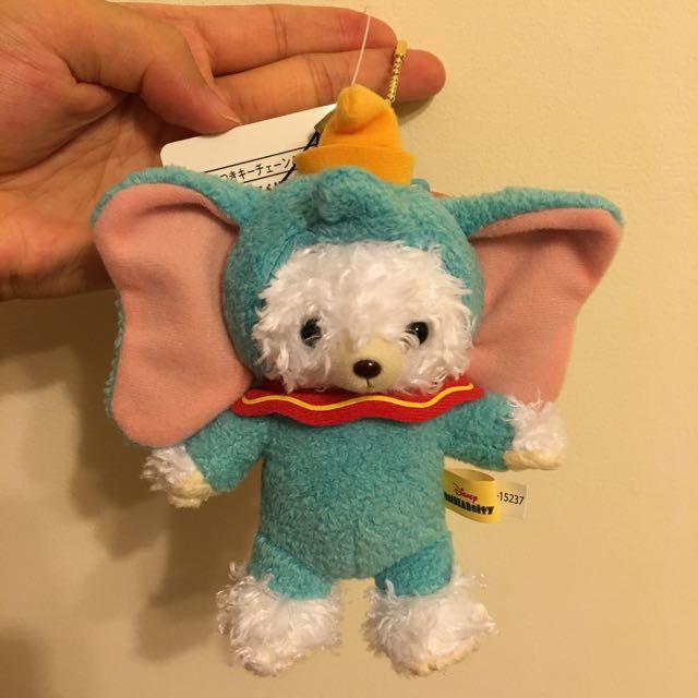 日本迪士尼 大學熊 小飛象 吊飾