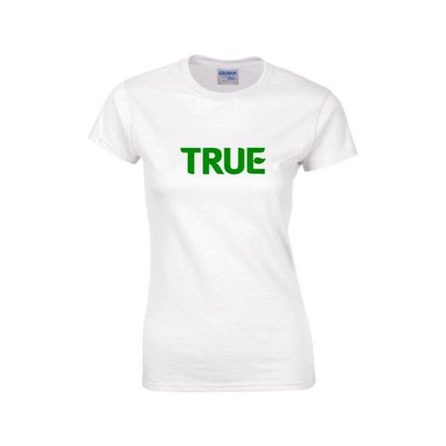 [ True Lemon ] LIMITED EDITION True Printed Minimalist White Shirt Design B