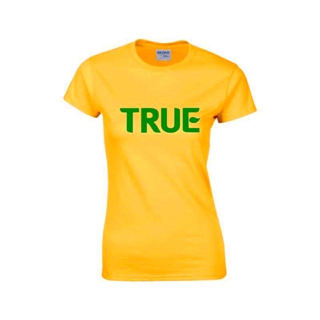 [ True Lemon ] LIMTED EDITION True Printed Minimalist Yellow Shirt Design B