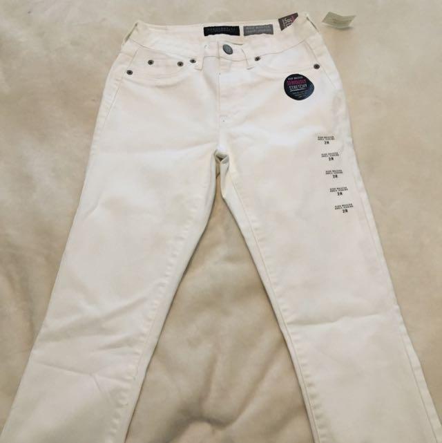 Aeropostale White High waisted Skinny Jeans