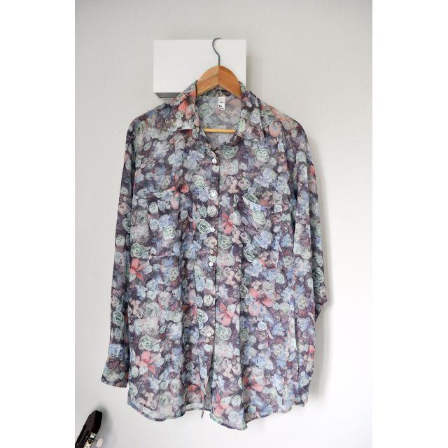 American Apparel Floral Chiffon Shirt