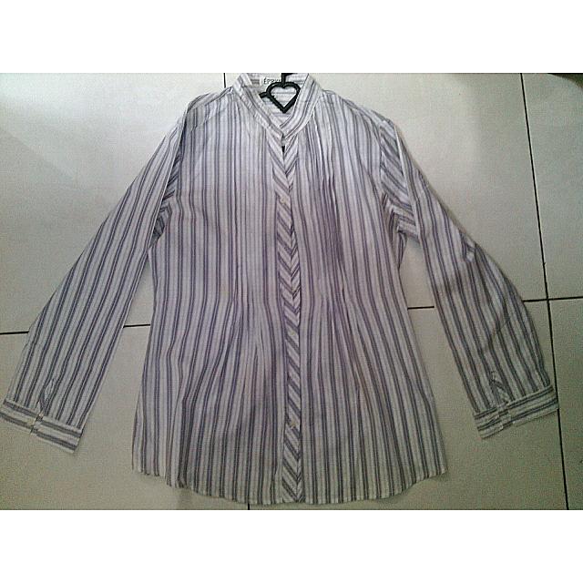Baju Panjang Garis-garis