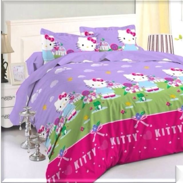 Bedcover Hello Kitty Uk Sprei 180x200x20