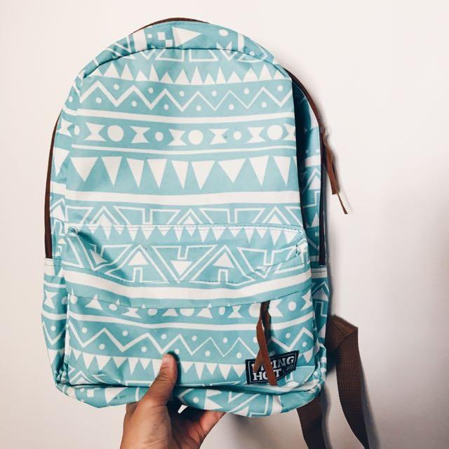 Blue Piping Hot Bag