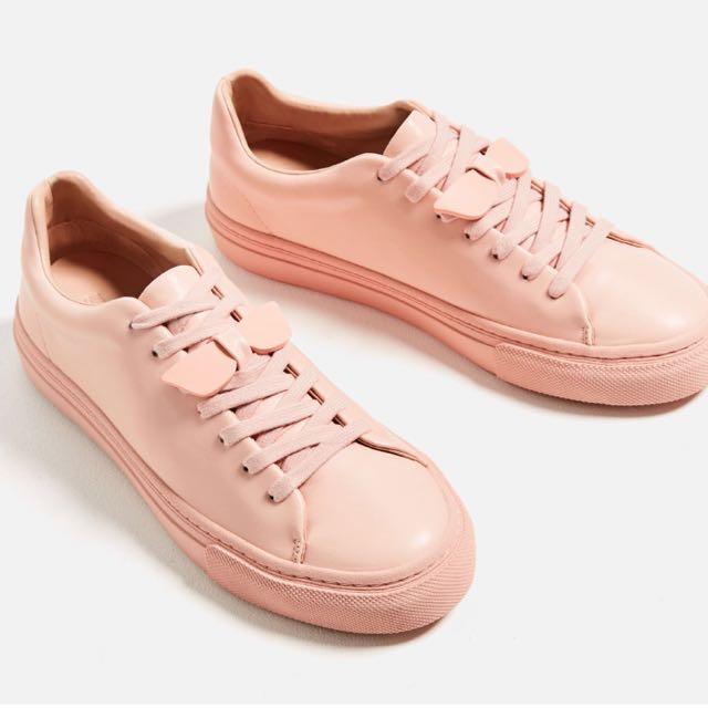 Zara Pink Sneakers, Women's Fashion