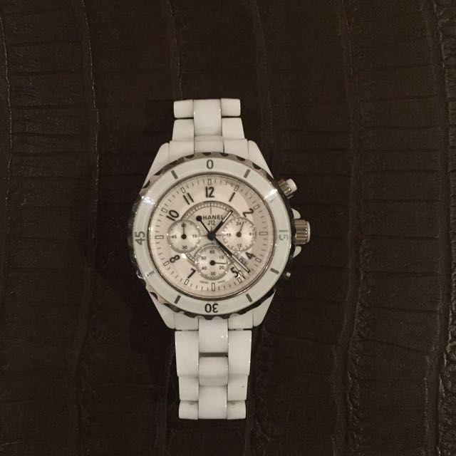 Chanel White J12 Watch