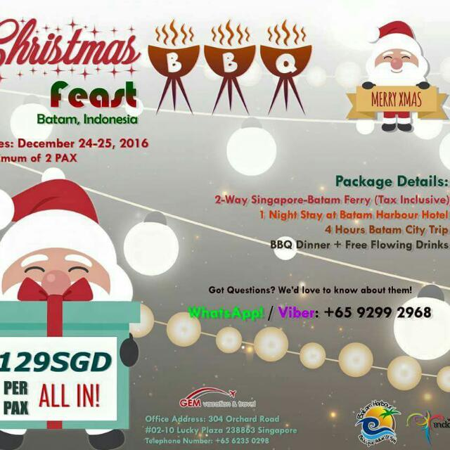 Christmas Feast In Batam Indonesia